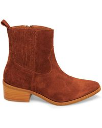0178714595c Walden Point-toe Suede Boots - Brown