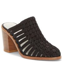 1.STATE - Licha Suede Woven Mules - Lyst