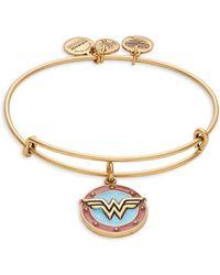 ALEX AND ANI - Wonder Woman Charm Bracelet - Lyst