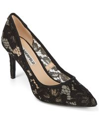 Karl Lagerfeld Royale Floral Point Toe Pumps - Black