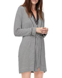 UGG - Striped Lightweight Jersey Knit Robe - Lyst