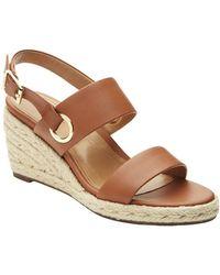 Vionic - Vero Leather Wedge Sandals - Lyst