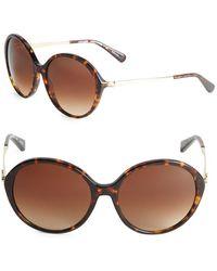COACH - 56mm Oval Sunglasses - Lyst