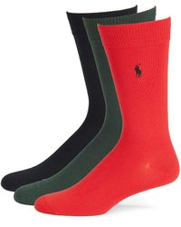 Polo Ralph Lauren - Three-pack Super Soft Casual Socks Set - Lyst