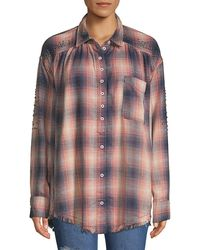Free People Take On Me Button-down Shirt - Red