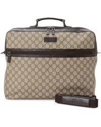 Gucci Vintage GG Supreme Canvas Travel Bag - Natural