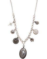 Lucky Brand - Silvertone Celestial Ox Necklace - Lyst