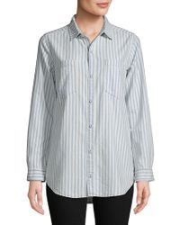 Lucky Brand - Striped Oversized Shirt - Lyst