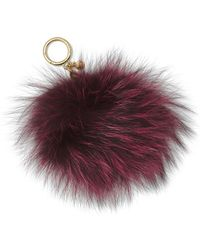 MICHAEL Michael Kors - Fox Fur Pom-pom Handbag Charm - Lyst