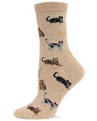 Hot Sox - Cat Printed Trouser Socks - Lyst