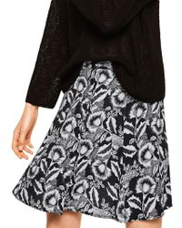 Mango - Printed Button Skirt - Lyst