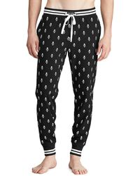 Polo Ralph Lauren Printed Knit Pyjama Joggers - Black