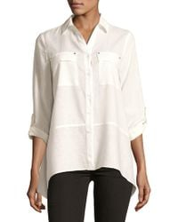 Jones New York - Flounce-hem Shirt - Lyst