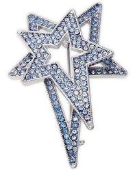 Lord + Taylor Silvertone Star Pin In Gift Box - Metallic