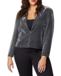 REBEL WILSON X ANGELS Plus Cropped Tux Jacket - Black