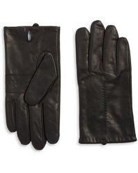 Calvin Klein - Cuff Point Leather Gloves - Lyst