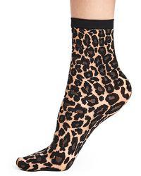 Wolford Wildlife Leopard Socks - Multicolour