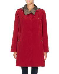 Gallery - Removable Hood Rain Coat - Lyst