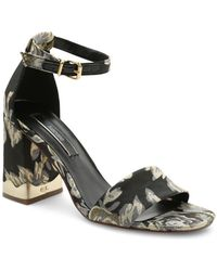 Kensie - Sahar Textile Block Heel Sandal - Lyst