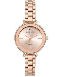 Anne Klein Rose Goldtone & Diamond Bracelet Watch - Metallic
