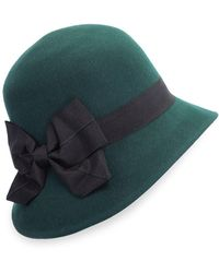 Giovannio Bow-trimmed Cloche Hat - Green