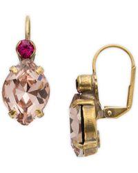 Sorrelli Radiant Sunrise Juniper Crystal Earrings - Metallic