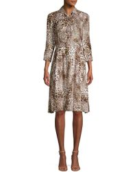 ab43350453f9 Elie Tahari Silk A-line Dress in White - Lyst