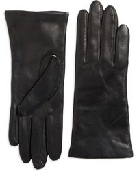 Lord & Taylor - Three Button Leather Gloves - Lyst