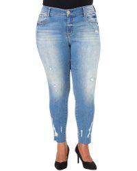 Seven7 - Plus Plus Distressed Skinny Jeans - Lyst