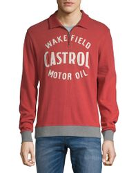 Lucky Brand - Castrol Quarter-zip Cotton Polo - Lyst