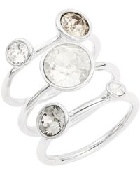 Ted Baker | Jackie Jewel Stacked Rings | Lyst