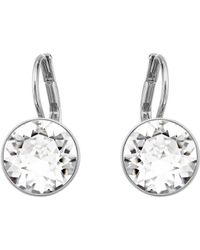 Swarovski Bella Silvertone & Crystal Mini Drop Earrings - Metallic