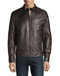 Strellson Leather Biker Jacket