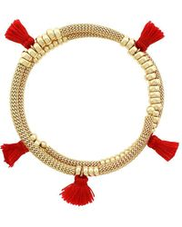 Jessica Simpson - Tassel Bangle Bracelet - Lyst