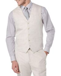 Perry Ellis - Big And Tall Linen-cotton Suit Vest - Lyst