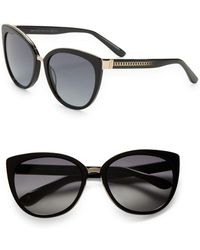 bef69bf4f8 Lyst - Alexander McQueen Scalloped Modified Cateye Sunglasses in Green