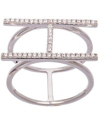 Lord & Taylor - Double Strand Cubic Zirconia H Ring - Lyst