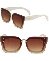 Circus by Sam Edelman - 54mm Tinted Wayfarer Sunglasses - Lyst