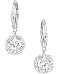 Swarovski - Attract Light Crystal Drop Earrings - Lyst