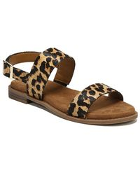 Franco Sarto - Velocity2 Leopard Print Calf Hair Sandals - Lyst