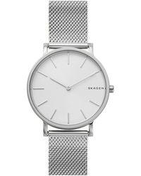 Skagen Hagen Slim Stainless Steel Mesh Bracelet Watch - Metallic