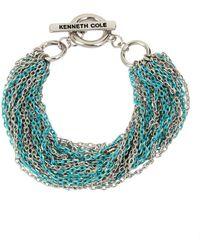 Kenneth Cole Aqua Chain Crystal Multi-row Chain Bracelet - Blue