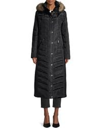 6fc68c23684 MICHAEL Michael Kors Hooded Double-breasted Trench Coat in Black - Lyst