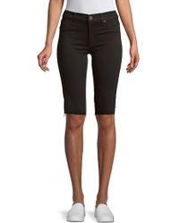 Hudson Jeans Fringed Knee-length Shorts - Black