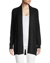 Lord + Taylor Petite Cashmere Open-front Cardigan - Black