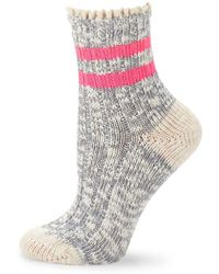 Free People - Canyons Heathered Ankle Socks - Lyst