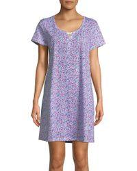 Karen Neuburger - Polka Dot Print Nightgown - Lyst