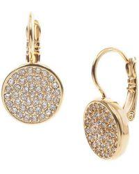 Anne Klein - Goldtone And Crystal Drop Earrings - Lyst