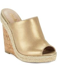Charles David - Balen Leather Wedge Mules - Lyst