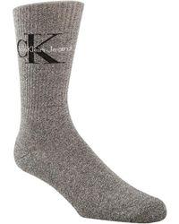 Calvin Klein - Ribbed Logo Crew Socks - Lyst